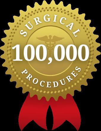 100,000 Surgical Procedures Performed Badge