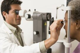 Doctor examining a patients eye